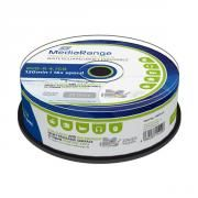 MEDIARANGE DVD-R 120' 4.7GB 16X INKJET FULLSURF. PRINT., WATERGUARD WHITE, HIGH-GLOSSY, WATERPROOF,