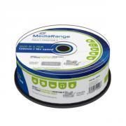 MEDIARANGE DVD-R 120' 4.7GB 16X CAKE BOX X 25 INKJET FULLSURFACE PRINTABLE (MR407)